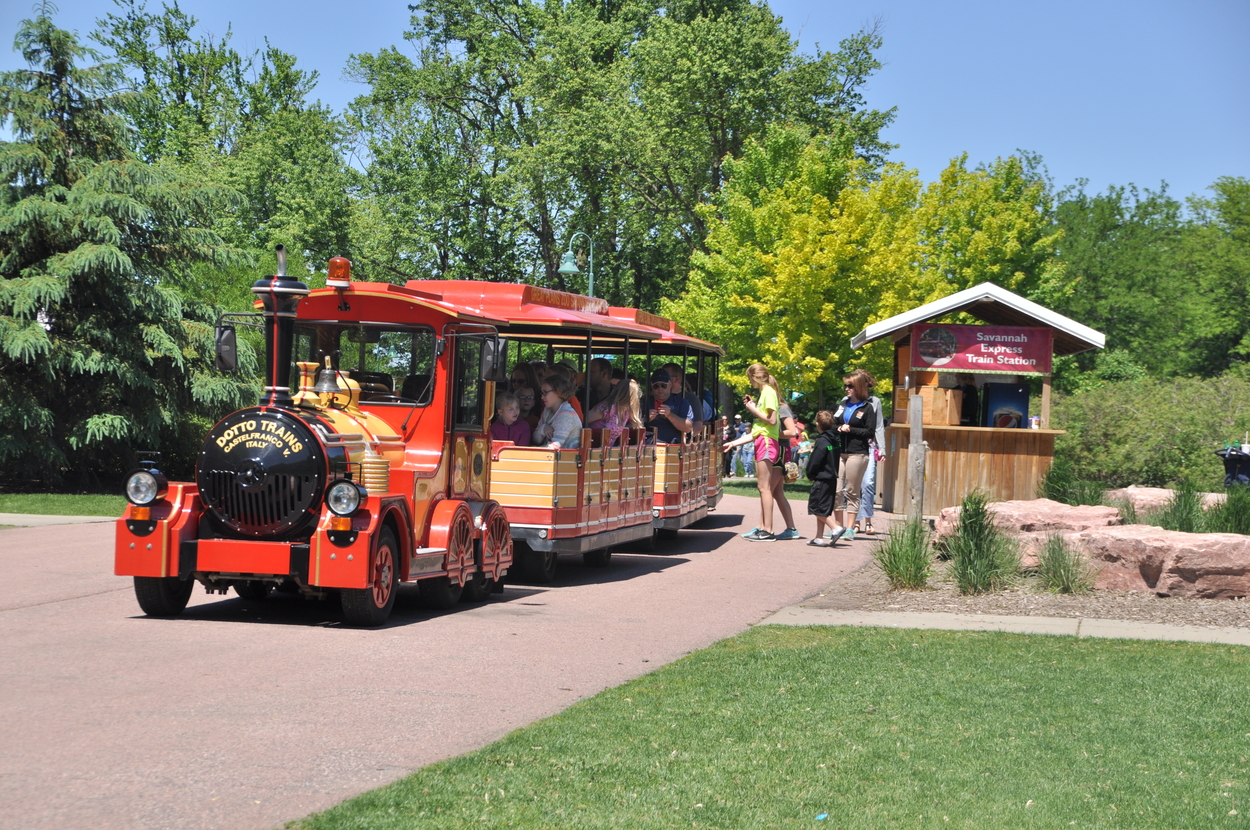 Train ride at Great Plains Zoo